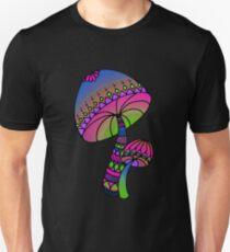 Shrooms - pink/blue/green/purple Unisex T-Shirt