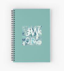 JW.org on Blue Vintage Floral Pattern Spiral Notebook