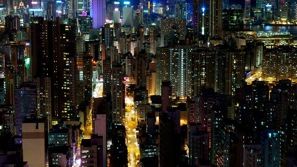 A view of Mong Kok from above by michswiss