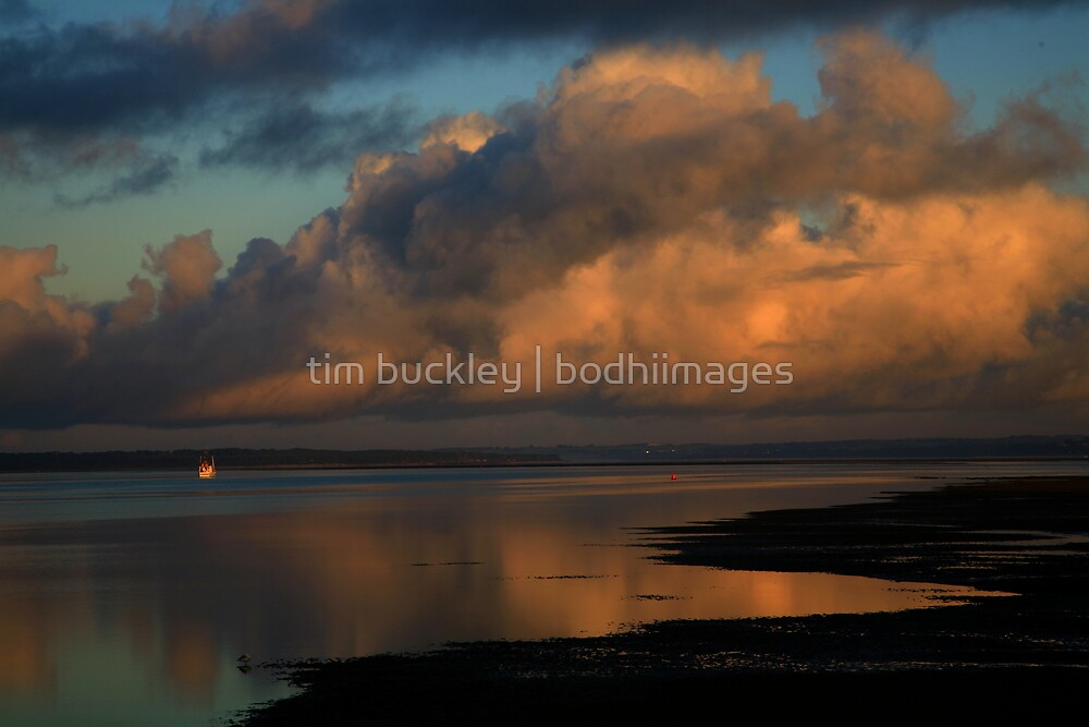 anderson inlet sunrise. victoria by tim buckley | bodhiimages