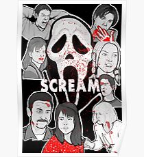 Scream character collage Poster