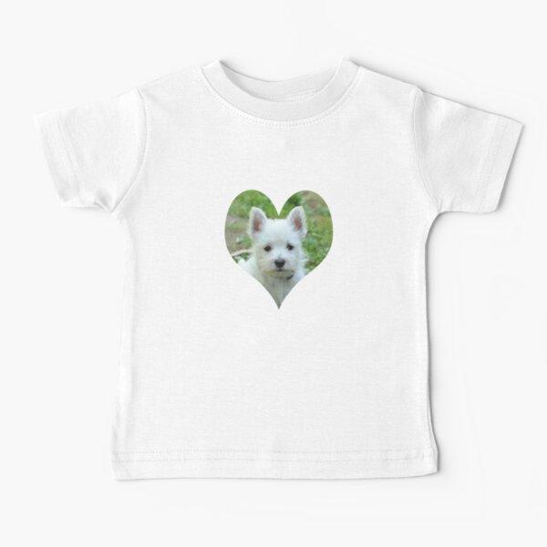 West Highland White Terrier Puppy portrait 2 Baby T-Shirt