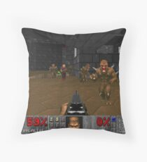 Doom First Person Throw Pillow