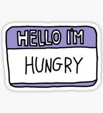Pegatina Hola tengo hambre