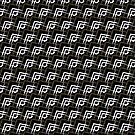 Black White & Bronze Pattern V2019-01 by webgrrl