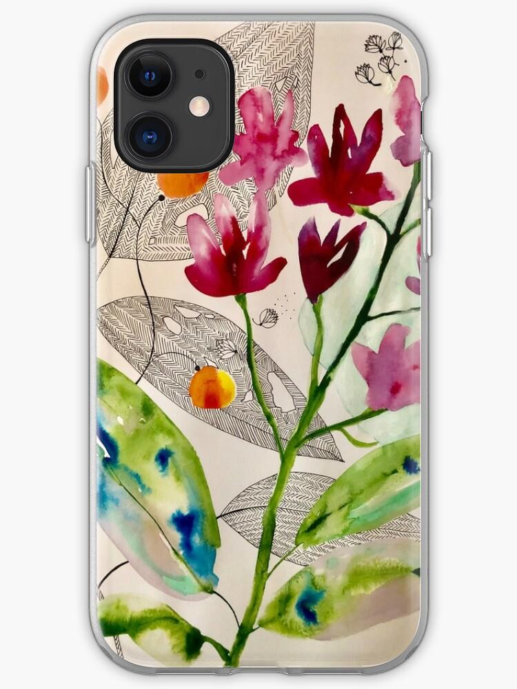 floral composition iPhone 11 case