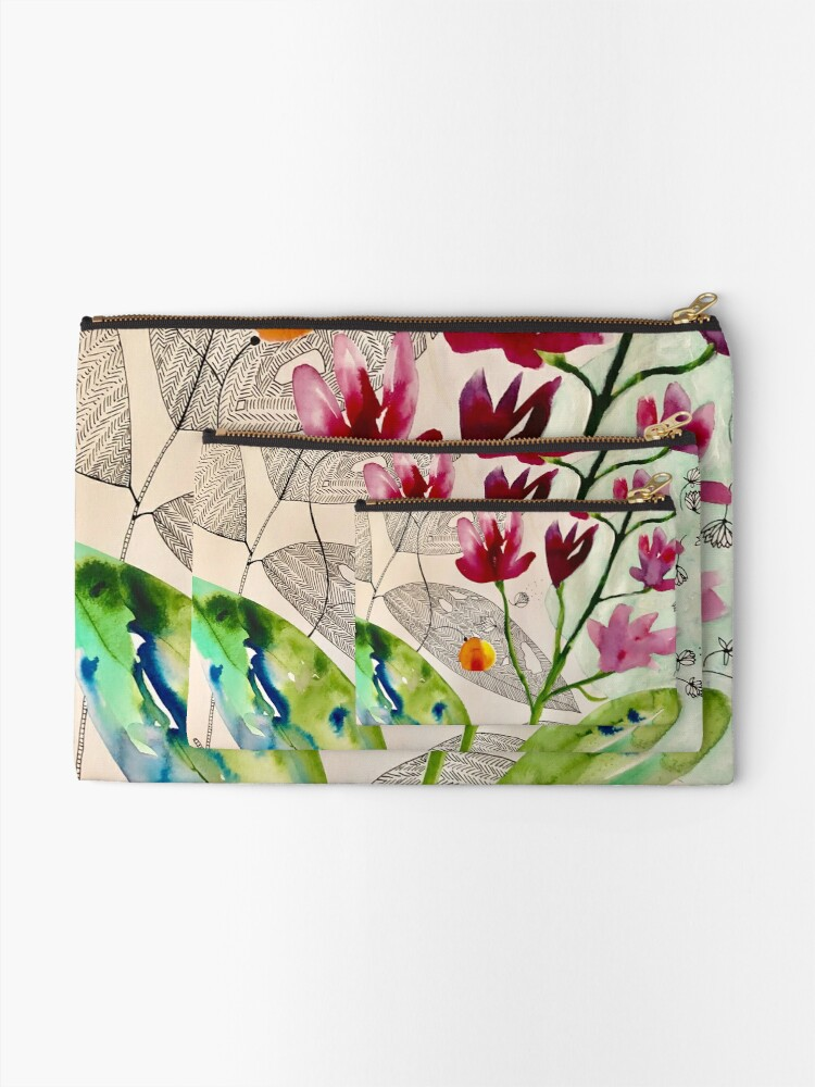 Alternate view of botanical composition Zipper Pouch
