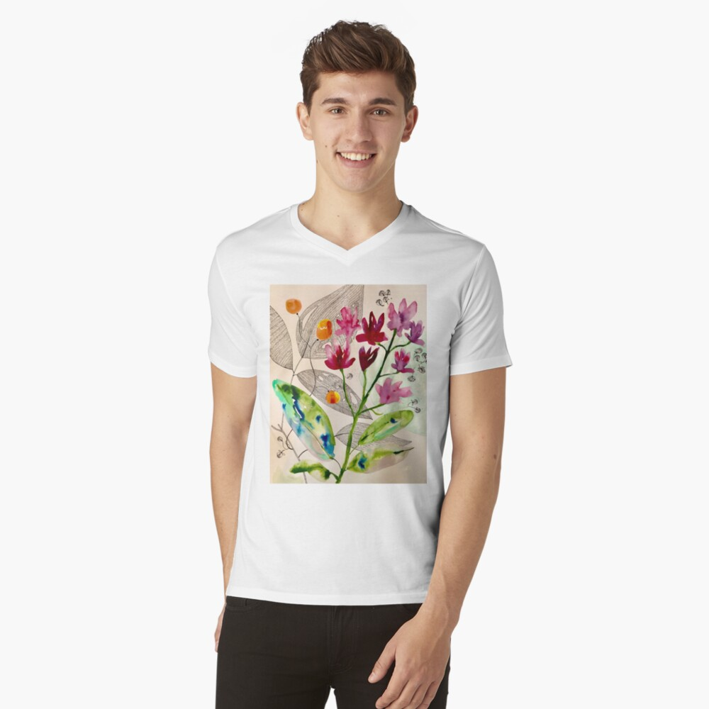 botanical composition V-Neck T-Shirt