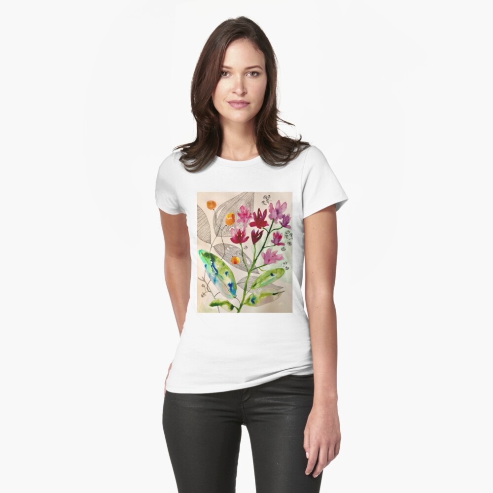 botanical composition Fitted T-Shirt