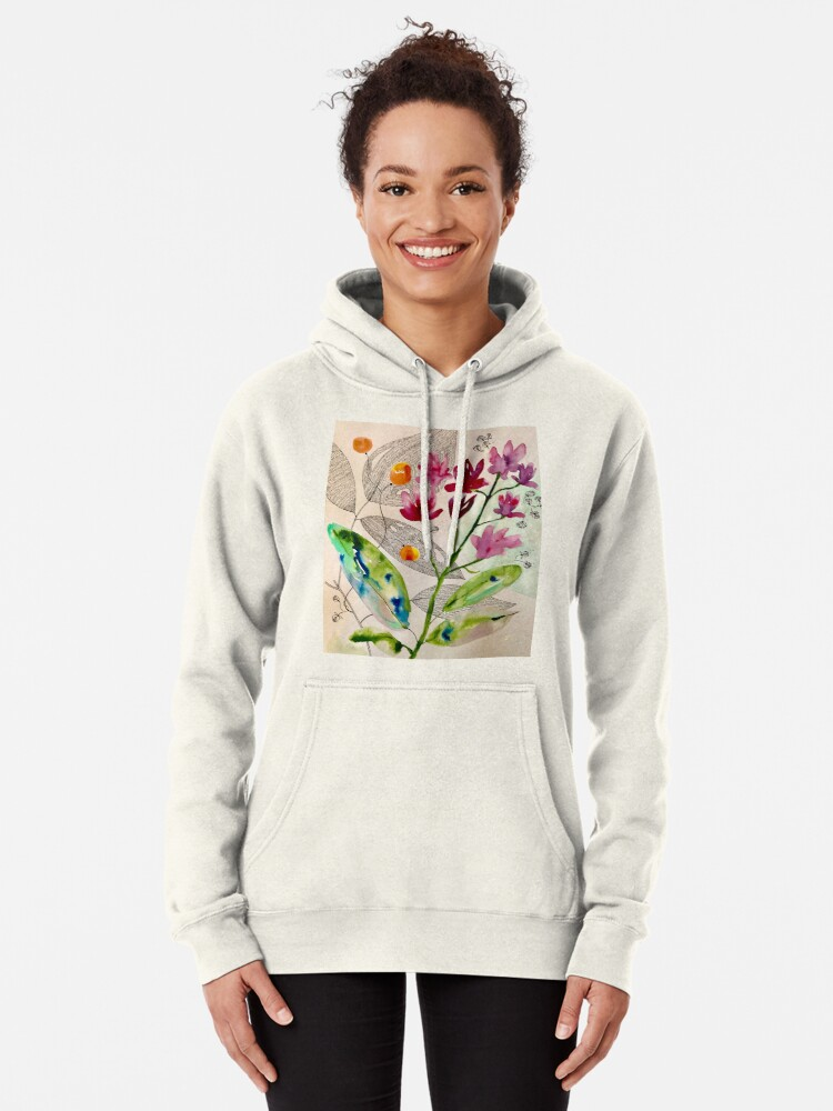 Alternate view of botanical composition Pullover Hoodie