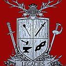 Silver Legacies Crest [Red] by LegaciesLARP