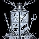 Silver Legacies Crest [Black] by LegaciesLARP