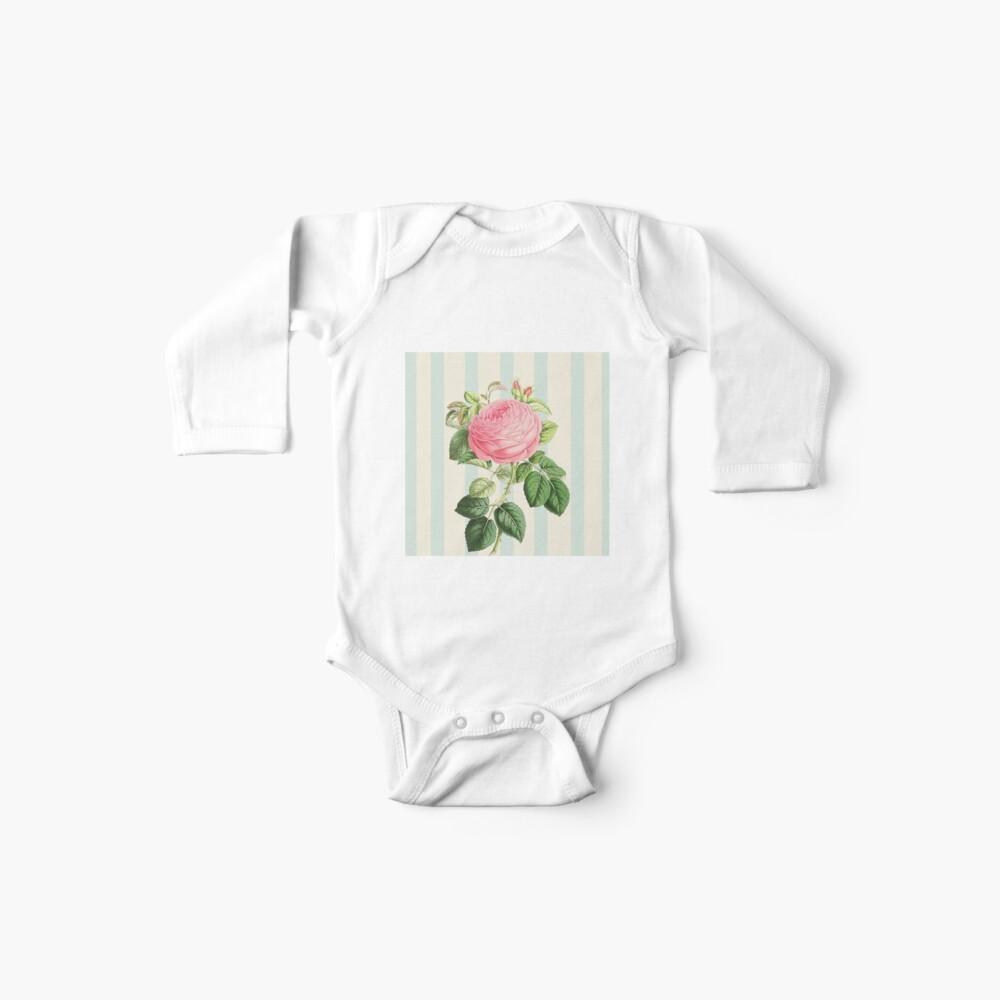 Hermosa rosa Bodies para bebé