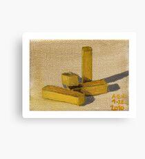 Yellow Blocks Canvas Print