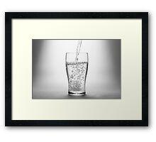 Pour Framed Print