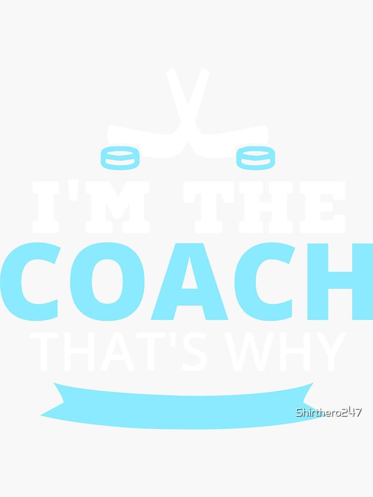 Regalo divertido del entrenador del hockey sobre hielo de Shirthero247
