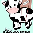 Cow Moving Card - You've MOOved!  by JustTheBeginning-x (Tori)