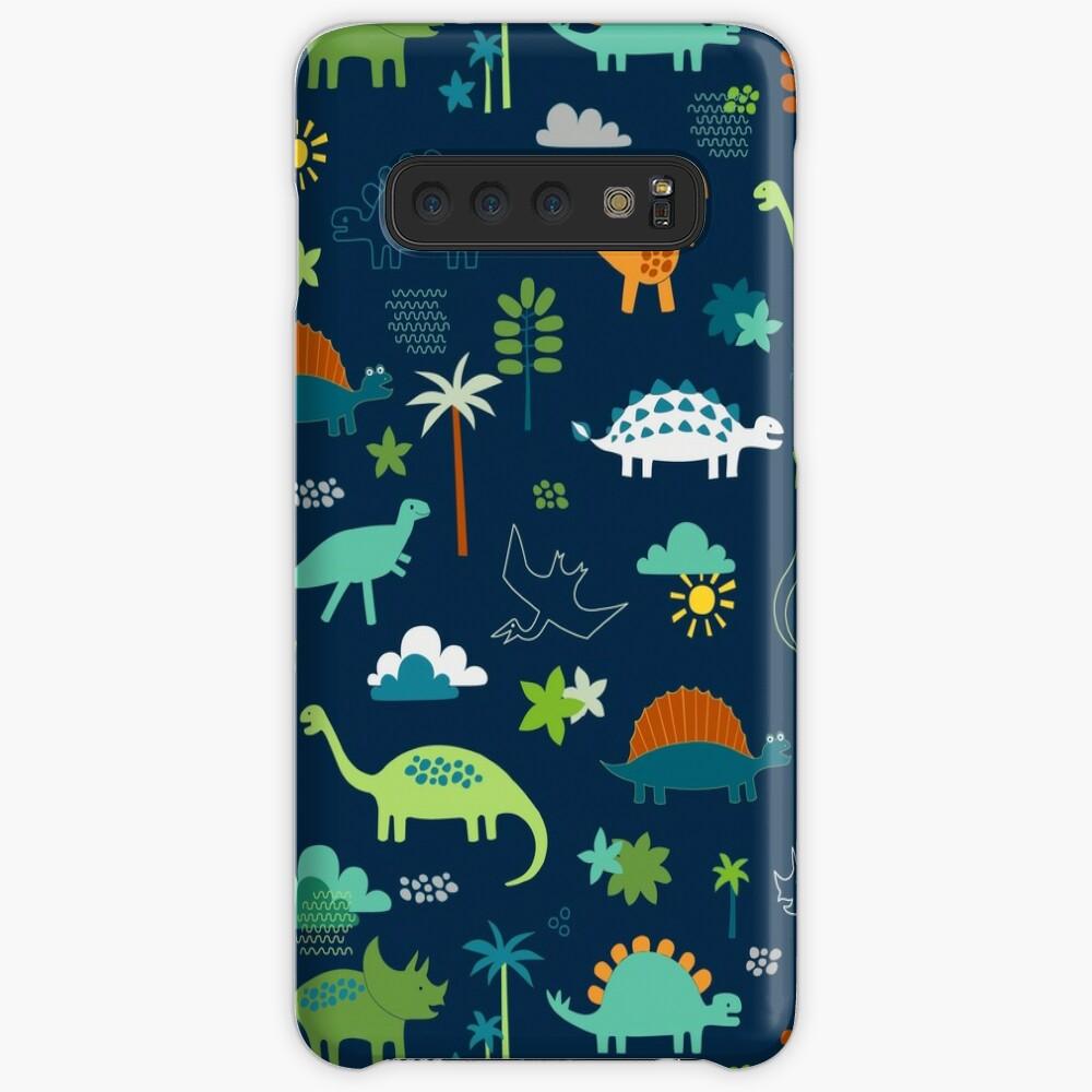 Dinosaur Land - cute Dino pattern by Cecca Designs Case & Skin for Samsung Galaxy