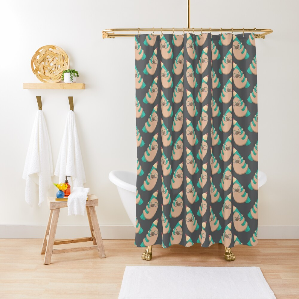 Sloths and pencils Shower Curtain