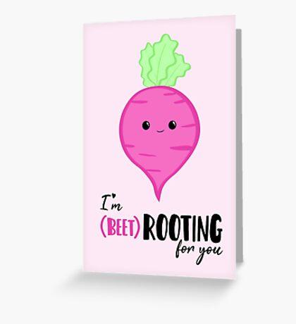 (beet)ROOTING For you! Exam Card - GCSE Card - College - University Good Luck - Beetroot - Vegan - Vegetarian - Motivational Greeting Card