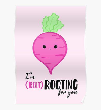 (beet)ROOTING For you! Exam Card - GCSE Card - College - University Good Luck - Beetroot - Vegan - Vegetarian - Motivational Poster