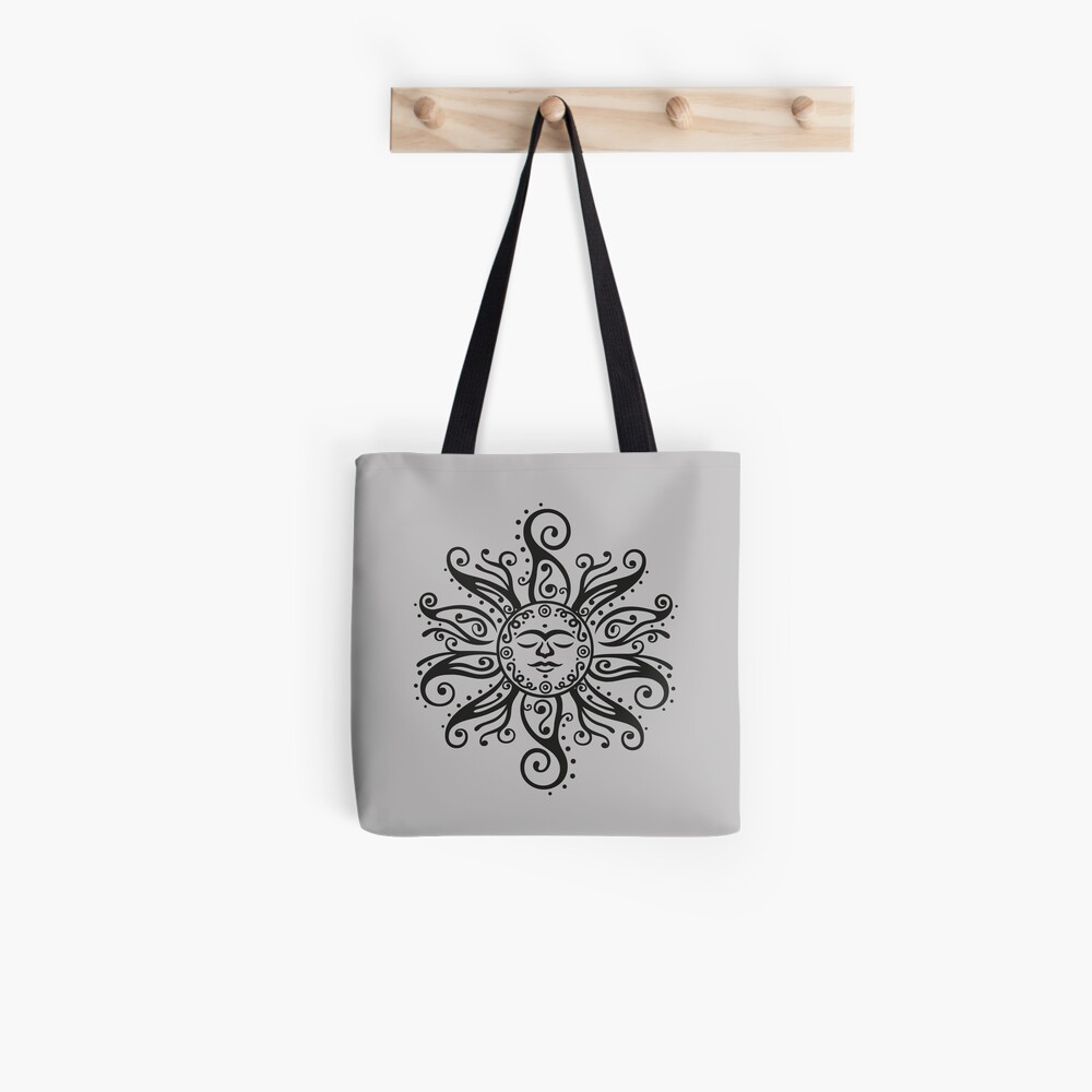 Tribal Mehndi Sonne  Tote Bag