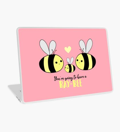 Baby Shower - New Baby - BAY-Bees - You're going to have a baby! Laptop Skin