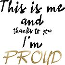 Proud - ESC 2019 - This is me and thanks to you Im PROUD by talgursmusthave