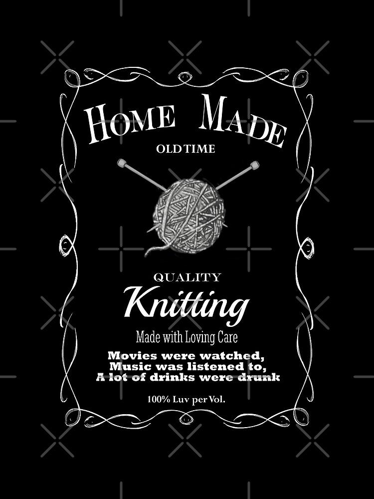 Retro Knitting Design 1 by GhostImageArt