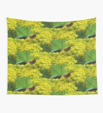 Butterfly in the Yellow Wall Tapestry