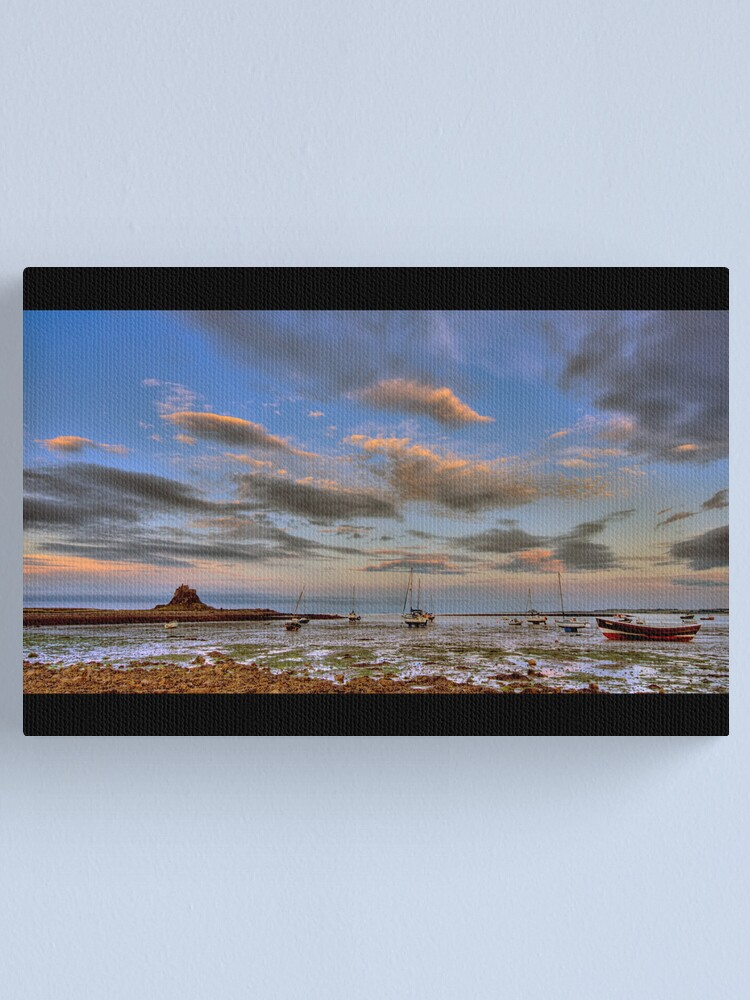 Alternate view of Sunset boats Canvas Print