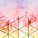 Dreiecke machen #Aquarell #abstract von Creativeaxle