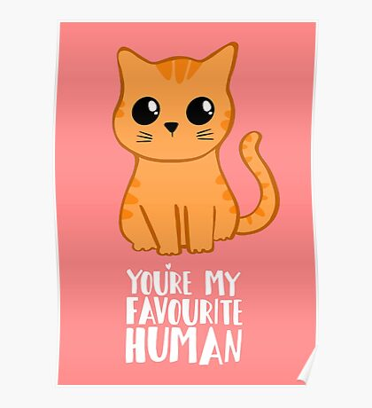 You're my favourite human - Ginger Cat - Shirt from the cat Poster