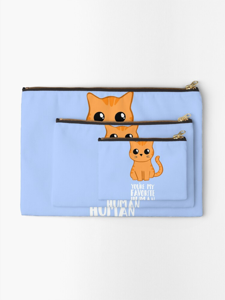 Alternate view of You're my favorite human - Ginger Cat - Gifts from the cat - Cat MOM Zipper Pouch