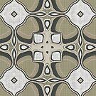 «Gris Verde Marrón Taupe Marrón Orient Bali Art» de LC Graphic Design Studio