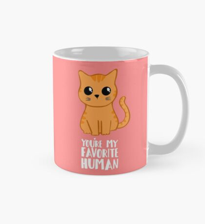 You're my favorite human - Ginger Cat - Shirt from the cat MOM - American Spelling Mug
