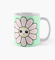 Kawaii Daisy   Pink Blossom Flower Classic Mug