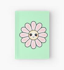 Kawaii Daisy   Pink Blossom Flower Hardcover Journal