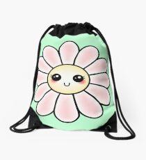 Kawaii Daisy | Pink Blossom Flower Drawstring Bag