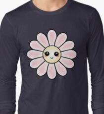 Kawaii Daisy | Pink Blossom Flower Long Sleeve T-Shirt