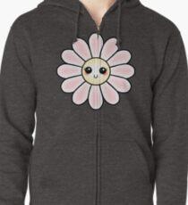 Kawaii Daisy | Pink Blossom Flower Zipped Hoodie