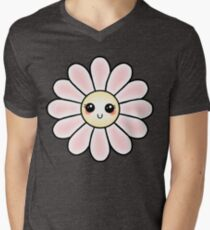 Kawaii Daisy   Pink Blossom Flower V-Neck T-Shirt