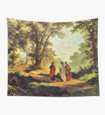 Road To Emmaus Wall Tapestry