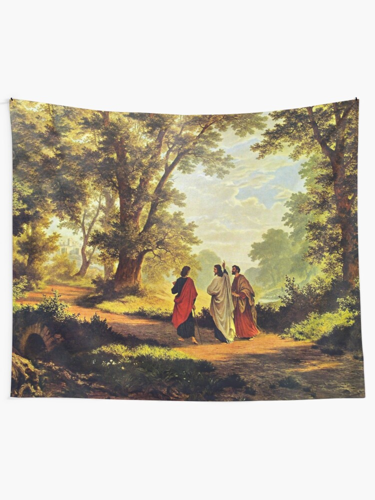 Alternate view of Road To Emmaus Tapestry