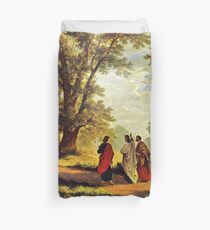 Road To Emmaus Duvet Cover