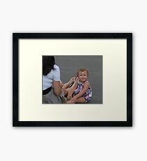 Child with an Issue Framed Print