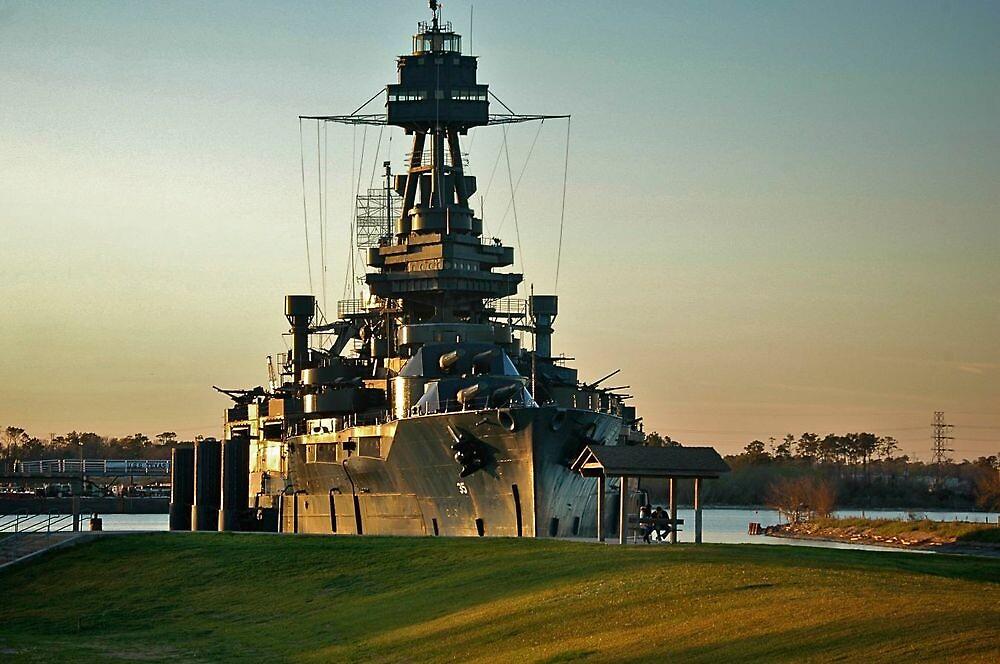 U.S.S. Texas Battleship by Ann Reece