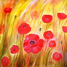 Field of Poppies- Acrylic Painting by Esperanza Gallego