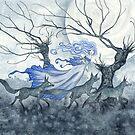 Wolf Dream by AmyBrownArt