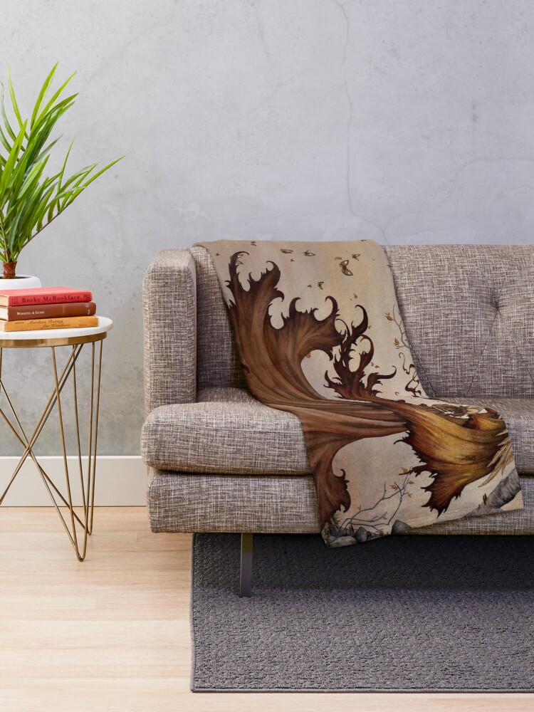 Alternate view of Passage to Autumn Throw Blanket